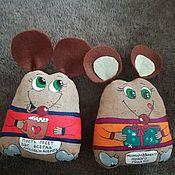 Чердачная кукла ручной работы. Ярмарка Мастеров - ручная работа Кофейные мышки. Handmade.