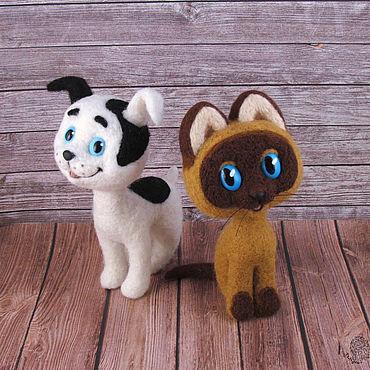 Куклы и игрушки ручной работы. Ярмарка Мастеров - ручная работа Котенок по имени Гав. Handmade.
