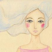 Картины и панно ручной работы. Ярмарка Мастеров - ручная работа Картина Девушка-Весна. Handmade.