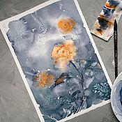 """Картины и панно ручной работы. Ярмарка Мастеров - ручная работа Картина """"Роза"""" Акварель. Handmade."""