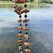 Винтаж handmade. Livemaster - original item Bamboo. Stylish necklace and bracelet. the 1970s.. Handmade.
