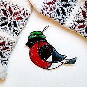 Подарки к праздникам ручной работы. Ярмарка Мастеров - ручная работа Ёлочные игрушка снегирь, подвеска украшение на ёлку в новый год. Handmade.