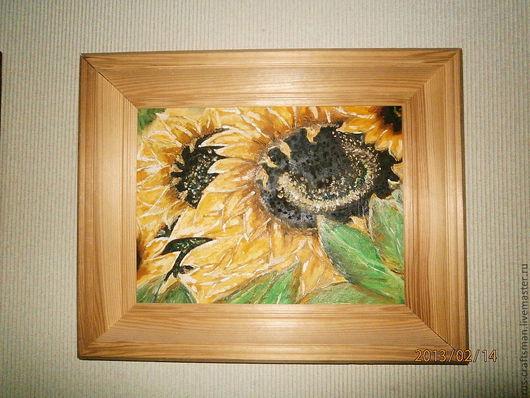 """Картины цветов ручной работы. Ярмарка Мастеров - ручная работа. Купить Картина """"Подсолнухи"""". Handmade. Картина маслом, картина с цветами"""
