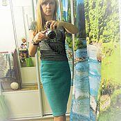 Одежда ручной работы. Ярмарка Мастеров - ручная работа Вязаная юбка Мятная. Handmade.