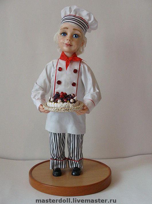"""Коллекционные куклы ручной работы. Ярмарка Мастеров - ручная работа. Купить Авторская Кукла """"Бабушкин помощник"""" из полимерной глины. Handmade."""