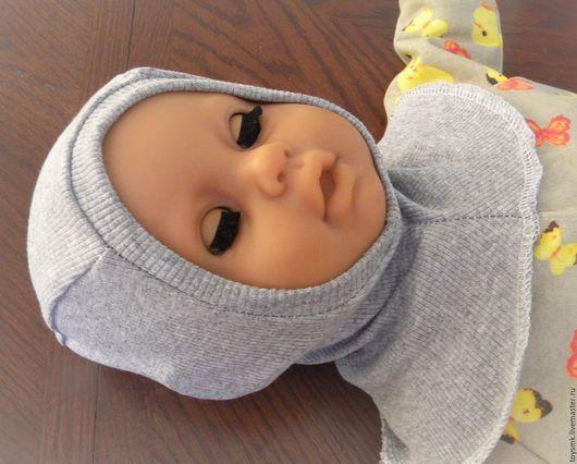 Для новорожденных, ручной работы. Ярмарка Мастеров - ручная работа. Купить Шлем-поддева (продан). Handmade. Бежевый, теплая шапка