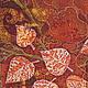 Фантазийные сюжеты ручной работы. Заказать Картина Осенние Кракелюры выполненная на хб ткани в технике батика. Мария. Ярмарка Мастеров.