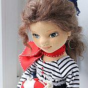 Кукла коллекционная текстильная авторская Морская романтика