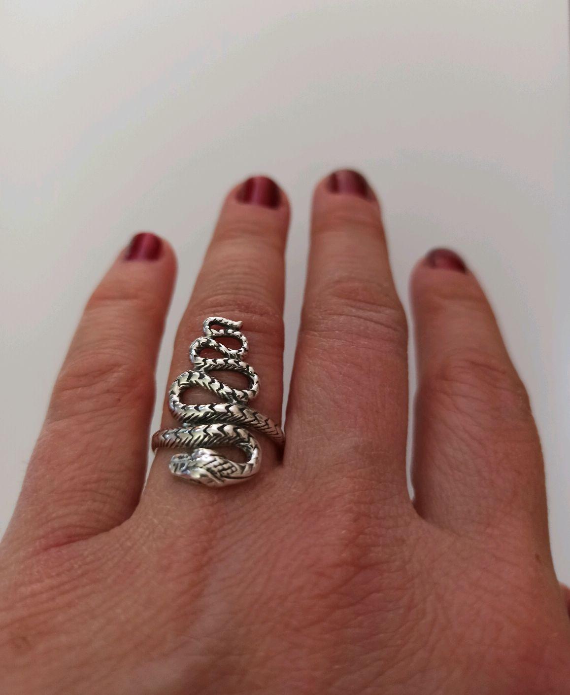 Кольцо Змея Серебро 925 проба, Кольца, Турин,  Фото №1