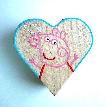 Для дома и интерьера ручной работы. Ярмарка Мастеров - ручная работа Шкатулка - раскраска для детей Свинка Пеппа. Handmade.