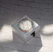 """Свадебный салон ручной работы. Ярмарка Мастеров - ручная работа """"Tinted-Pink Wed"""" - свадебная шкатулка для обручальных колец. Handmade."""