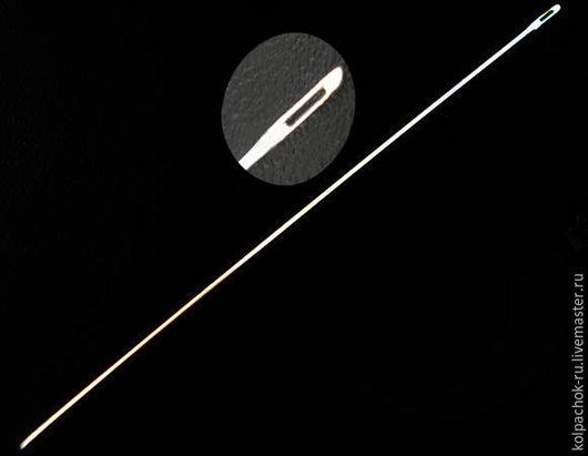 Вязание ручной работы. Ярмарка Мастеров - ручная работа. Купить Игла для бисероплетения. Handmade. Серебряный, иголка, для бисера, сплав