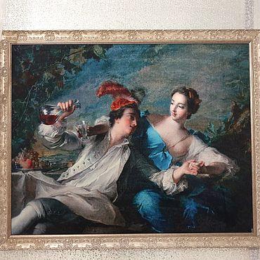 """Картины и панно ручной работы. Ярмарка Мастеров - ручная работа Картины: """"Влебленные. 1744 г."""" Жан-Марк Натье. Handmade."""