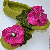 """Обувь ручной работы. Ярмарка Мастеров - ручная работа тапочки """"мальва """". Handmade."""