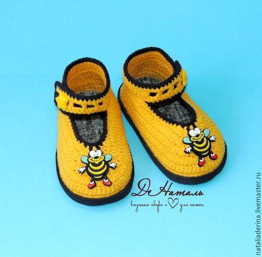 Детская обувь, летняя обувь, домашняя обувь, пинетки, пинетки вязаные, обувь ручной работы, спортивная обувь, обувь, детские пинетки, тапочки ручной работы, тапочки домашние, тапочки, Наталья Дерина