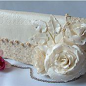 Свадебный салон ручной работы. Ярмарка Мастеров - ручная работа Свадебная сумочка клатч «Карлин». Handmade.