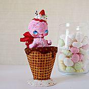 Куклы и игрушки ручной работы. Ярмарка Мастеров - ручная работа Клубничное мороженое. Handmade.