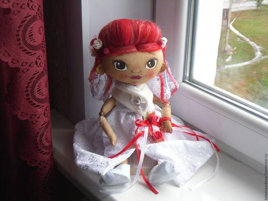Ароматизированные куклы ручной работы. Ярмарка Мастеров - ручная работа. Купить Невеста Мери. Handmade. Белый, оригинальный подарок, хлопок