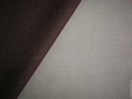 """Шитье ручной работы. Ярмарка Мастеров - ручная работа. Купить Итальянская пальтовая двусторонняя """"Бежево-коричневая"""". Handmade. Коричневый"""