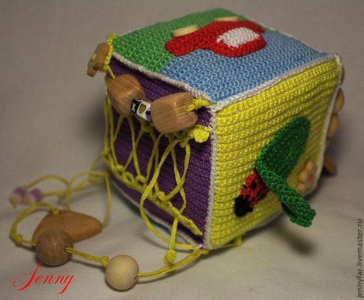 Развивающие игрушки ручной работы. Ярмарка Мастеров - ручная работа. Купить Развивающий кубик. Handmade. Развивающая игрушка, вязаная игрушка
