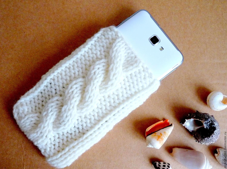 Вязание чехол на мобильный телефон