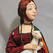 """Куклы и игрушки ручной работы. Ярмарка Мастеров - ручная работа Коллекционная кукла """"Дама с горностаем"""". Handmade."""
