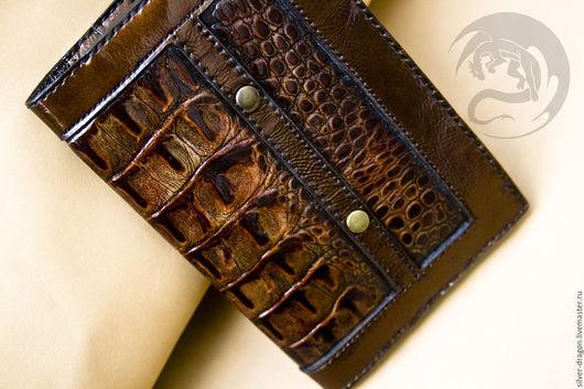Обложка на автодокументы  `Кайман` Кожевенная мастерская `Silver Dragon`