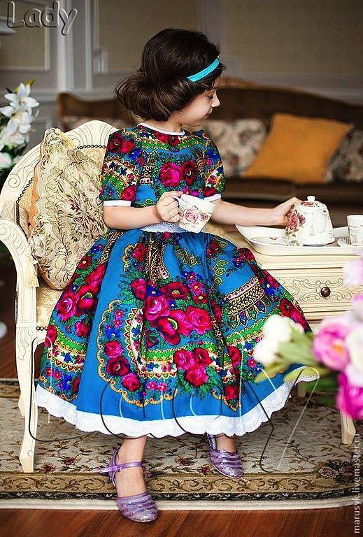 Одежда для девочек, ручной работы. Ярмарка Мастеров - ручная работа. Купить Платье - Катерина. Handmade. Бирюзовый, платье для девочки