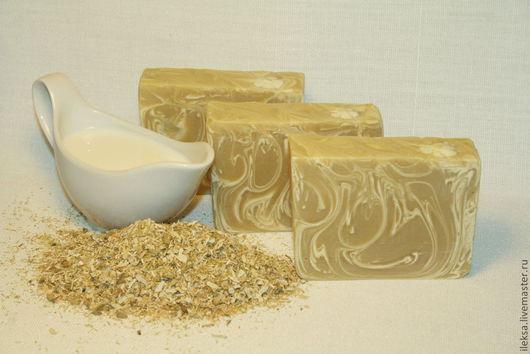 Мыло ручной работы. Ярмарка Мастеров - ручная работа. Купить Козье молоко и ромашка - натуральное мыло с нуля. Handmade.