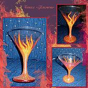 """Посуда ручной работы. Ярмарка Мастеров - ручная работа Бокал """"Пламень"""". Handmade."""
