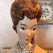 Фарфоровый винтажный бюстик куклы