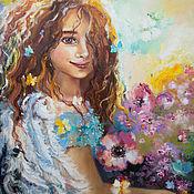 Картины и панно handmade. Livemaster - original item Angel Blossom - oil painting. Handmade.