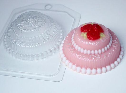 `Торт мини с розами` форма для мыла пластиковая