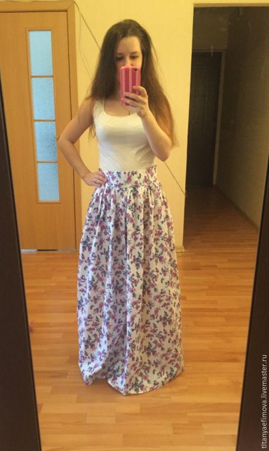 Купить юбку в пол летом