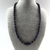 Украшения handmade. Livemaster - original item Beads of genuine lapis lazuli and hematite. Handmade.