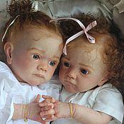 Куклы и игрушки ручной работы. Ярмарка Мастеров - ручная работа Сестренки Анжелина и Аделина. Handmade.