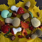 Куклы и игрушки ручной работы. Ярмарка Мастеров - ручная работа Вязаные фрукты  грибы и желуди. Handmade.