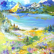 Картины и панно handmade. Livemaster - original item Mountain herb - painting on canvas. Handmade.