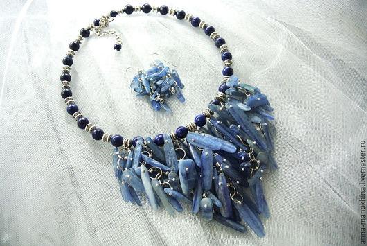 """Колье, бусы ручной работы. Ярмарка Мастеров - ручная работа. Купить Колье """"Синяя птица"""" кианит, лазурит. Handmade."""