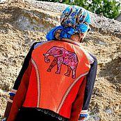 Одежда ручной работы. Ярмарка Мастеров - ручная работа Жакет льняной с вышивкой (№342). Handmade.
