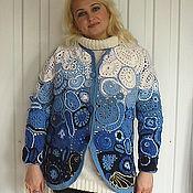 Одежда handmade. Livemaster - original item Jacket Free Forms GZHEL. Handmade.