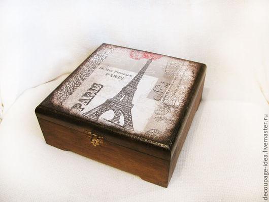 """Шкатулки ручной работы. Ярмарка Мастеров - ручная работа. Купить Шкатулка """"Эйфелева башня"""". Handmade. Функциональный подарок, винтаж, шоколад"""