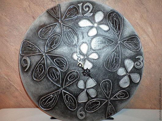Часы для дома ручной работы. Ярмарка Мастеров - ручная работа. Купить Часы настенные.. Handmade. Серебряный, часы настенные, Декор