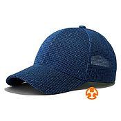 Аксессуары handmade. Livemaster - original item Summer Printed Baseball Cap Sota Bee Blue. Handmade.