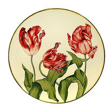 Посуда ручной работы. Ярмарка Мастеров - ручная работа Декоративная тарелка «Тюльпаны». Handmade.