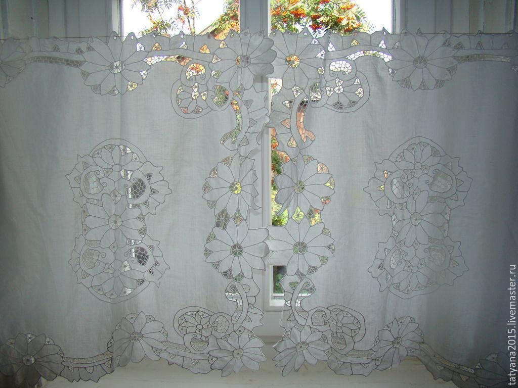 Вышивка ришелье штор