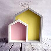 Для дома и интерьера ручной работы. Ярмарка Мастеров - ручная работа Полка-домик Вуди Двойной. Handmade.