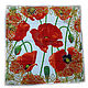 Дизайнер Анна Сердюкова (Дом Моды SEANNA).  Эффектный платок из шелка с авторским принтом  `Маки крупные в арабской рамке`. Размер платка - 65х65 см.  Цена - 2400 руб.