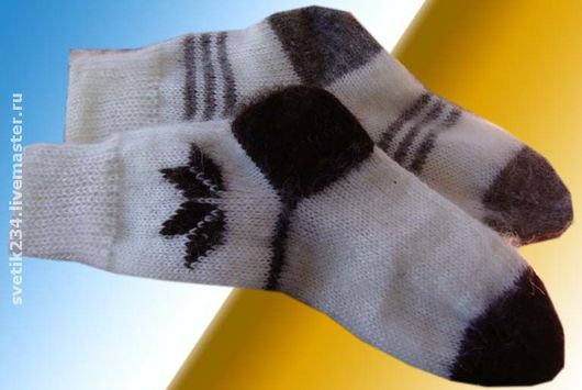 Носки, Чулки ручной работы. Ярмарка Мастеров - ручная работа. Купить Носки из козьей шерсти. Handmade. Вязаные носки