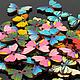 """Шитье ручной работы. Ярмарка Мастеров - ручная работа. Купить Пуговицы деревянные """"Butterfly"""". Лот 50 шт.. Handmade."""